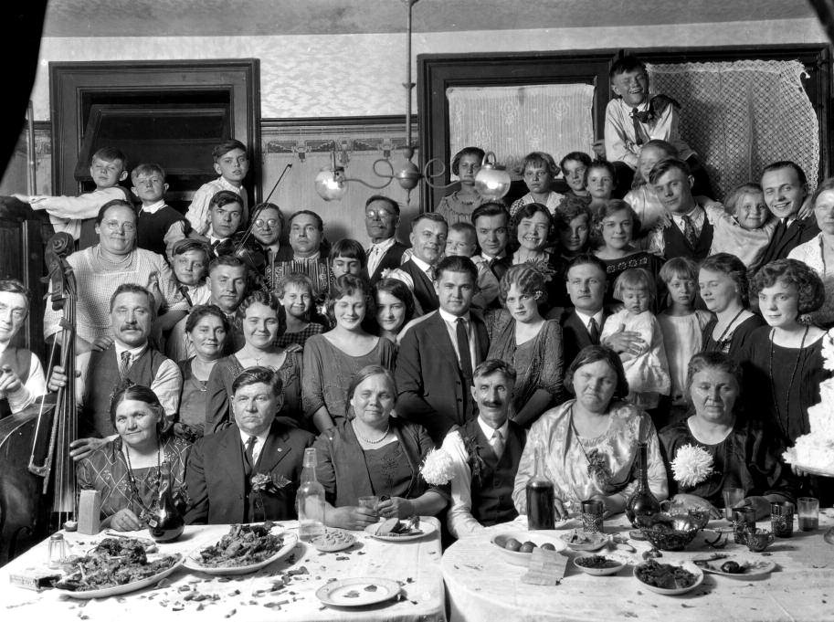 Lithuanian wedding party around 1929.