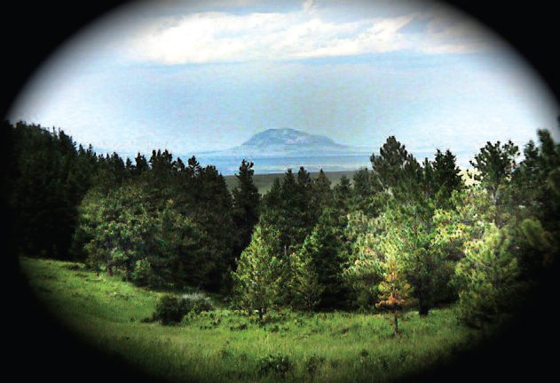 Black Butte as viewed from behind the Lankutis house. The Lewis and Clark expedition traveled on the other side of Black Butte on their way west.