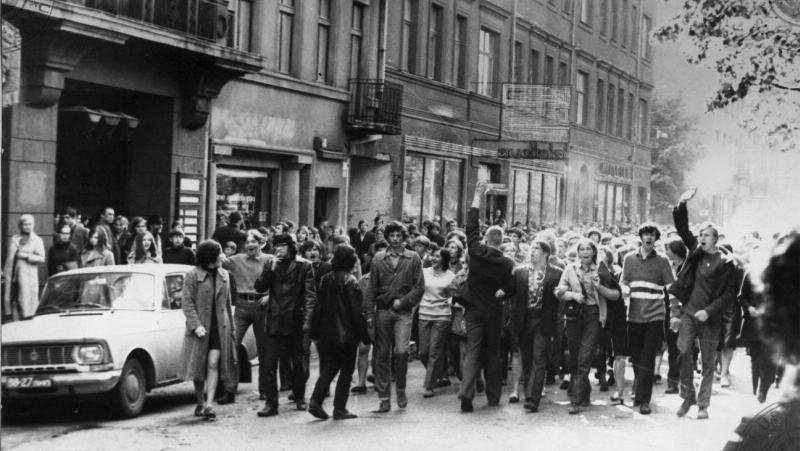 Protest March on Liberty Avenue. Kaunas, May 18,1972