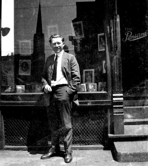 Pansirna in front of his studio.