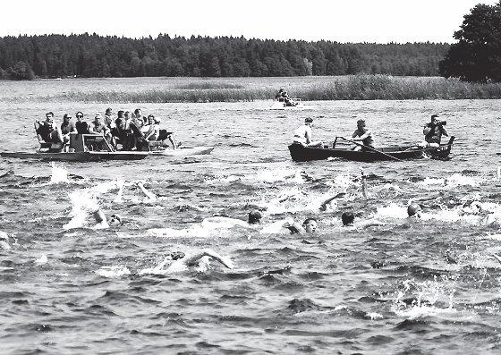 Open water swim in Lake Plateliai.