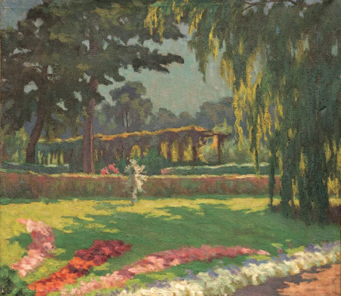 In a Botanical Garden. Oil on canvas, 1933.