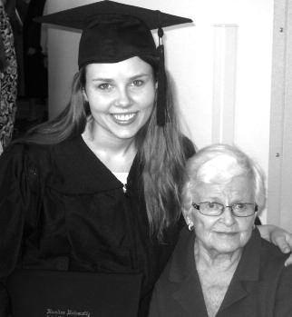 Julija with her grandmother Wanda Petkus