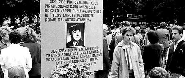 Remembering Romas Kalanta in Kaunas