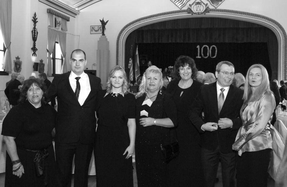 Members of the Baltimore Lithuanian Hall 100 Anniversary Program Committee. From left: Donna DeRemigis, Giedrius Melingis, Daiva Melingytė – LHA Manager, Antionette Marytė Ludwig – LHA President, Nomeda Šilgalis – LHA Treasurer, Gintaras Bujanauskas – Lithuanian American Community, Baltimore Chapter, President, and Egle Baublytė – LHA Vice President.