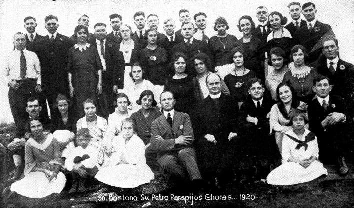 St. Peter Parish Choir, South Boston, 1920