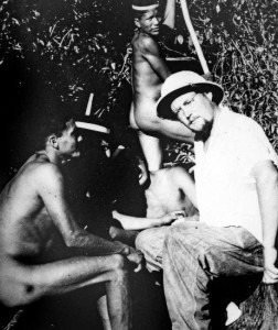 Dr. Bendoraitis with Croeo indians. Rondonia, Brazil, 1965.