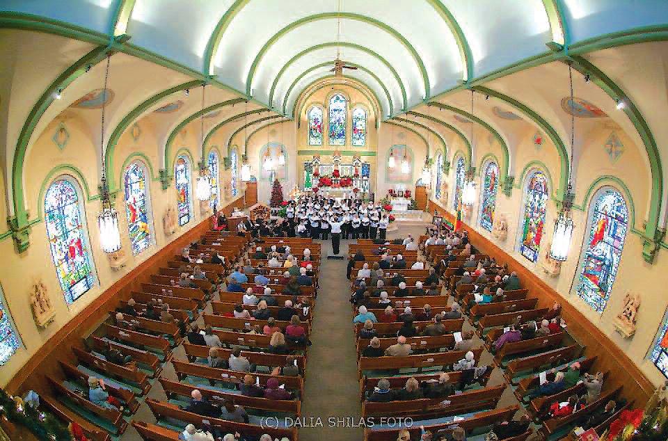 Monadnock Chorus performs at St. Peter's Lithuanian Church in South Boston. Photos Dalia Shilas